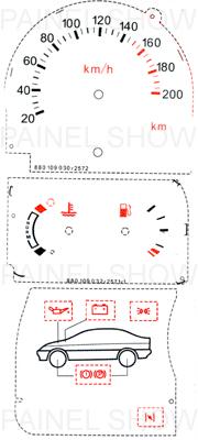 Adesivo p/ Painel - Cod76v200 - Escort  - PAINEL SHOW TUNING - Personalização de Painéis de Carros e Motos