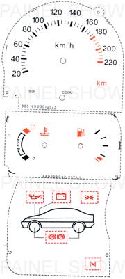 X Adesivo p/ Painel - Cod77v220 - Escort  - PAINEL SHOW TUNING - Personalização de Painéis de Carros e Motos