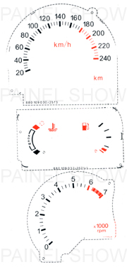 X Adesivo p/ Painel - Cod79v240 - Escort  - PAINEL SHOW TUNING - Personalização de Painéis de Carros e Motos