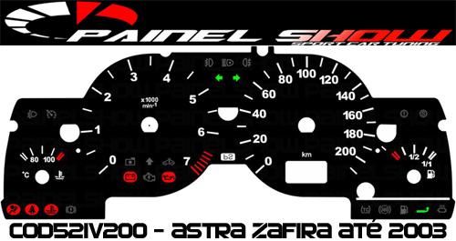 Acetato Translúcido p/ Painel - Cod521v200 - Astra até 2003 Referencia 521  - PAINEL SHOW TUNING - Personalização de Painéis de Carros e Motos