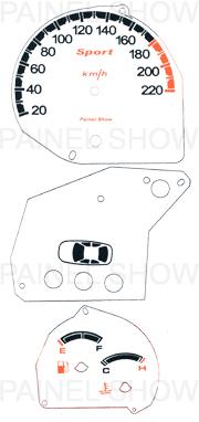X Adesivo p/ Painel - Cod80v220 - Fiesta / Courier  - PAINEL SHOW TUNING - Personalização de Painéis de Carros e Motos