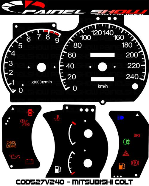 Kit Translúcido p/ Painel - Cod527v240 - Mitsubishi  - PAINEL SHOW TUNING - Personalização de Painéis de Carros e Motos