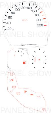 X Adesivo p/ Painel - Cod84v220 - Ford KA  - PAINEL SHOW TUNING - Personalização de Painéis de Carros e Motos