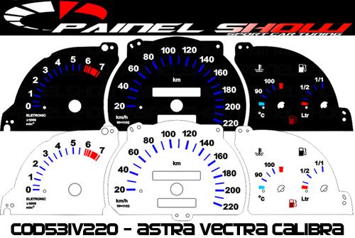 Kit Translúcido p/ Painel - Cod531v220 - Astra Vectra Calibra Antigo  - PAINEL SHOW TUNING - Personalização de Painéis de Carros e Motos