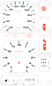 X Kit Neon p/ Painel - Cod17v200 - Gol / Parati  - PAINEL SHOW TUNING - Personalização de Painéis de Carros e Motos