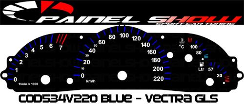 Kit Translúcido p/ Painel - Cod534v220 - Vectra 97ed 2  - PAINEL SHOW TUNING - Personalização de Painéis de Carros e Motos