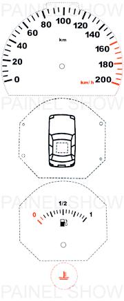 Adesivo p/ Painel - Cod88v200 - Uno / Fiorino  - PAINEL SHOW TUNING - Personalização de Painéis de Carros e Motos