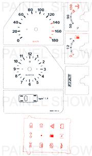 X Adesivo p/ Painel - Cod90v180 - Uno / Fiorino  - PAINEL SHOW TUNING - Personalização de Painéis de Carros e Motos