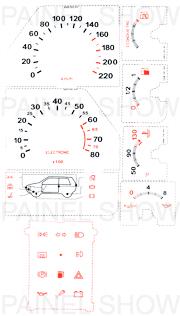 Adesivo p/ Painel - Cod91v220 - Uno  - PAINEL SHOW TUNING - Personalização de Painéis de Carros e Motos