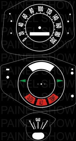 Kit Translucido p/ Painel - Cod548v200 - Maverick Fase 1  - PAINEL SHOW TUNING - Personalização de Painéis de Carros e Motos