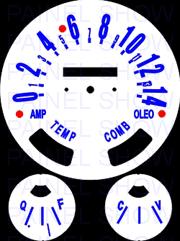 Kit Translúcido p/ Painel - Cod551v140 - Jeep Willys  - PAINEL SHOW TUNING - Personalização de Painéis de Carros e Motos