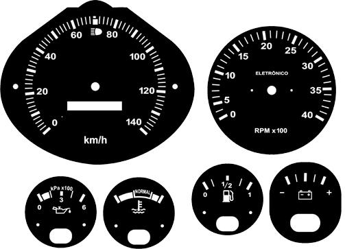 Kit Translúcido p/ Painel - Cod555v140 - F1000 140km  - PAINEL SHOW TUNING - Personalização de Painéis de Carros e Motos