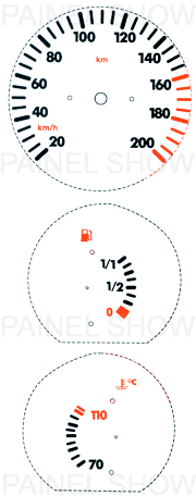 Kit Neon p/ painel - Cod23v200 - Gol / Parati  - PAINEL SHOW TUNING - Personalização de Painéis de Carros e Motos