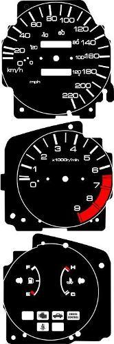 Kit Translúcido p/ Painel - Cod626V220 - Civic Antigo  - PAINEL SHOW TUNING - Personalização de Painéis de Carros e Motos