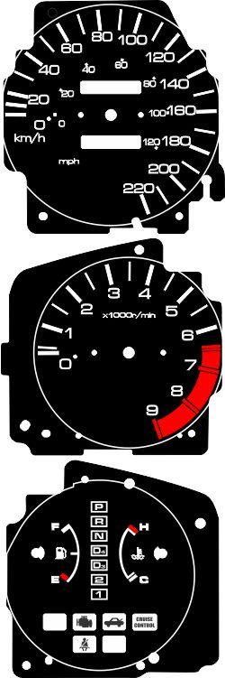 Kit Translúcido p/ Painel - Cod627v220 - Civic Antigo  - PAINEL SHOW TUNING - Personalização de Painéis de Carros e Motos