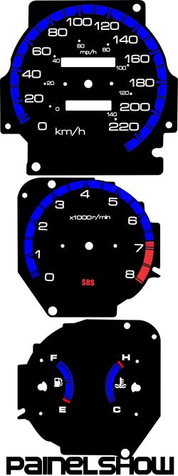 Kit Translúcido p/ Painel - Cod628v220 - Civic Antigo  - PAINEL SHOW TUNING - Personalização de Painéis de Carros e Motos