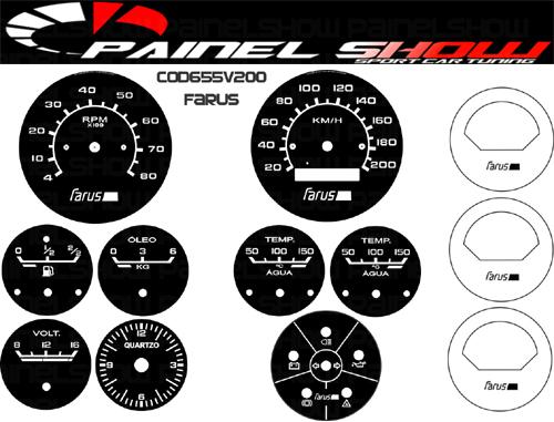 Kit Translúcido p/ Painel - Cod655v200 - Farus  - PAINEL SHOW TUNING - Personalização de Painéis de Carros e Motos