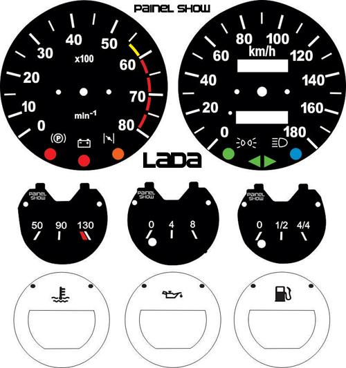 Kit Translucido p/ Painel - Cod660v180 - Lada Niva 4x4  - PAINEL SHOW TUNING - Personalização de Painéis de Carros e Motos