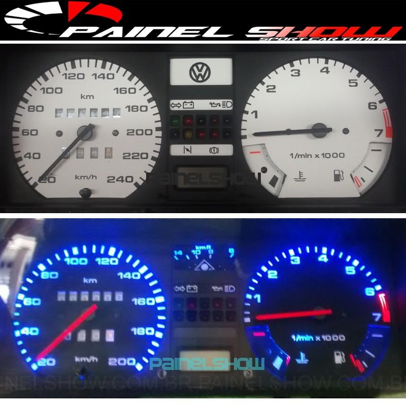 Kit Translucido p/ Painel - Cod661v190 - Gol até 1987  - PAINEL SHOW TUNING - Personalização de Painéis de Carros e Motos