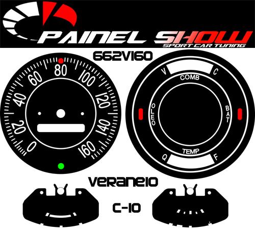 Kit Translucido p/ Painel - Cod662v160 - C10 C14 C15 D10 ou Veraneio  - PAINEL SHOW TUNING - Personalização de Painéis de Carros e Motos