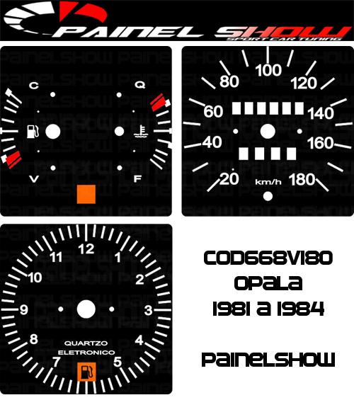 Kit Translúcido p/ Painel - Cod668v180 - Opala 1981 a 1984  - PAINEL SHOW TUNING - Personalização de Painéis de Carros e Motos