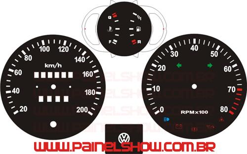 Kit Translucido p/ Painel - Passat Painelshow Contagiros Grande  - PAINEL SHOW TUNING - Personalização de Painéis de Carros e Motos