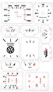 Kit Neon p/ Painel - Cod13v190 - Voyage / Saveiro  - PAINEL SHOW TUNING - Personalização de Painéis de Carros e Motos