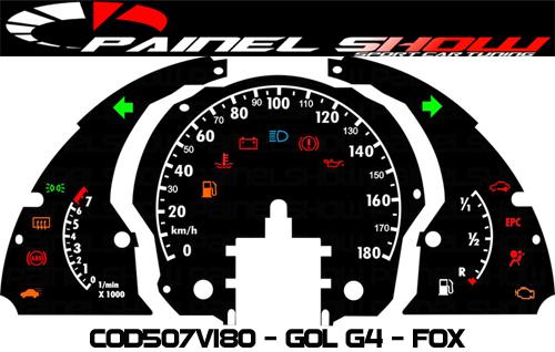 Kit Translúcido p/ Painel - Cod507v180 - Gol Fox G4  - PAINEL SHOW TUNING - Personalização de Painéis de Carros e Motos
