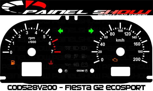 Kit Translúcido p/ Painel - Cod528v200 - Fiesta ou Escosport  - PAINEL SHOW TUNING - Personalização de Painéis de Carros e Motos