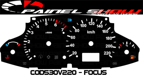 Kit Translúcido p/ Painel - Cod530v220 - Focus  - PAINEL SHOW TUNING - Personalização de Painéis de Carros e Motos