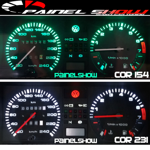 Kit Translúcido p/ Painel - Cod517v200 - Gol Parati Santana sem Parcial  - PAINEL SHOW TUNING - Personalização de Painéis de Carros e Motos