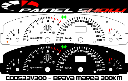 Kit Translúcido p/ Painel - Cod533v300 - Brava Marea Turbo Competition  - PAINEL SHOW TUNING - Personalização de Painéis de Carros e Motos