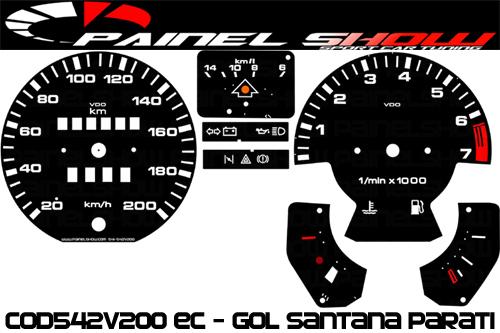 Kit Translúcido p/ Painel - Cod542v200 EC - Gol Parati Santana Passat  - PAINEL SHOW TUNING - Personalização de Painéis de Carros e Motos