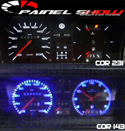 Kit Translucido p/ Painel - Cod566v220 - Gol GT 1.8 até 1987  - PAINEL SHOW TUNING - Personalização de Painéis de Carros e Motos