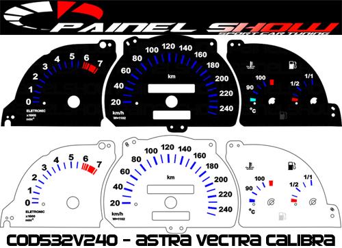 Kit Translúcido p/ Painel - Cod532v240 - Astra Antigo  - PAINEL SHOW TUNING - Personalização de Painéis de Carros e Motos