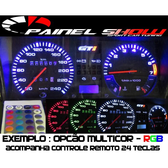 Kit Translúcido p/ Painel - Cod545v200 - Gol GL com Relógio Quadrado  - PAINEL SHOW TUNING - Personalização de Painéis de Carros e Motos