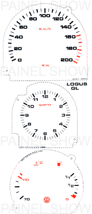 X Kit Neon p/ Painel - Cod35v0a200 - Logus Pointer  - PAINEL SHOW TUNING - Personalização de Painéis de Carros e Motos