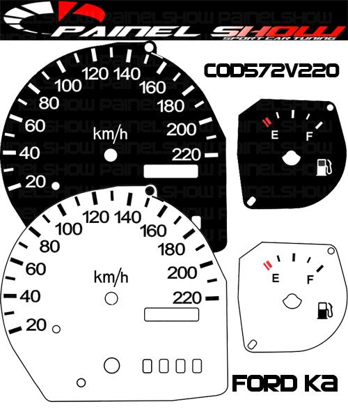 Kit Translúcido p/ Painel - Cod572v220 - Ford KA  - PAINEL SHOW TUNING - Personalização de Painéis de Carros e Motos