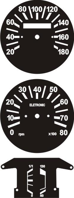 Kit Translúcido p/ Painel - Cod581v180 - Fiat 147 Rallye  - PAINEL SHOW TUNING - Personalização de Painéis de Carros e Motos