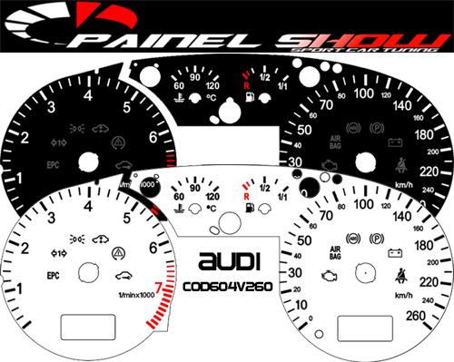 Acetato Translucido p/ Painel - Cod604v260 - Audi A3  - PAINEL SHOW TUNING - Personalização de Painéis de Carros e Motos