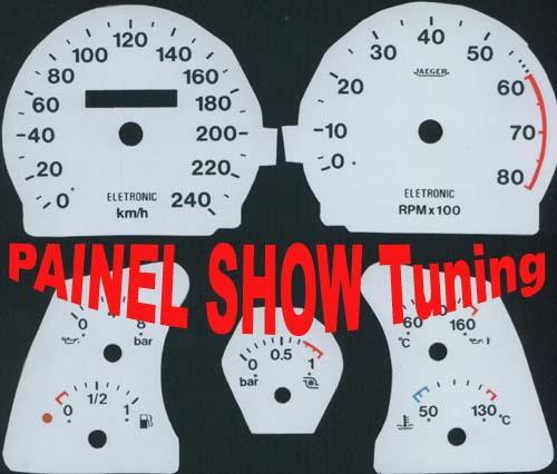 Kit Translúcido p/ Painel - Cod624v240 - Tempra Turbo 95 a 99  - PAINEL SHOW TUNING - Personalização de Painéis de Carros e Motos