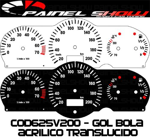Kit Translúcido p/ Painel - Cod625v200 - Gol Parati Saveiro G2 com Contagiros Vdo Bola  - PAINEL SHOW TUNING - Personalização de Painéis de Carros e Motos