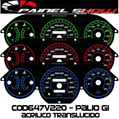 Kit Translúcido p/ Painel - Cod647v220 - Palio Antigo com Contagiros  - PAINEL SHOW TUNING - Personalização de Painéis de Carros e Motos