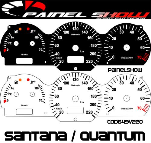 Kit Translúcido p/ Painel - Cod649v220 - Santana 98 ed 2000  - PAINEL SHOW TUNING - Personalização de Painéis de Carros e Motos