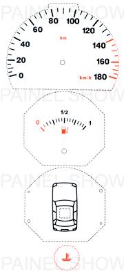X Kit Neon p/ Painel - Cod38v180 - Uno / Fiorino  - PAINEL SHOW TUNING - Personalização de Painéis de Carros e Motos