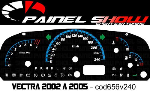 Acetato Translucido - Vectra 2002 a 2005 - Cod656v240  - PAINEL SHOW TUNING - Personalização de Painéis de Carros e Motos