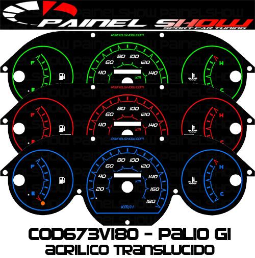Kit Translúcido p/ Painel - Cod673v180 - Palio Siena Strada Antigo G1  - PAINEL SHOW TUNING - Personalização de Painéis de Carros e Motos