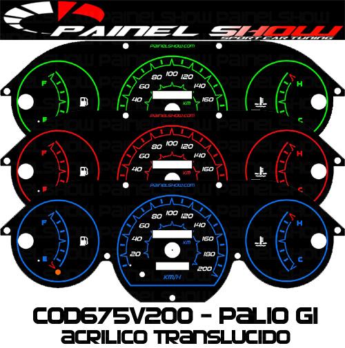Kit Translúcido p/ Painel - Cod675v200 - Palio Siena Strada Antigo G1  - PAINEL SHOW TUNING - Personalização de Painéis de Carros e Motos