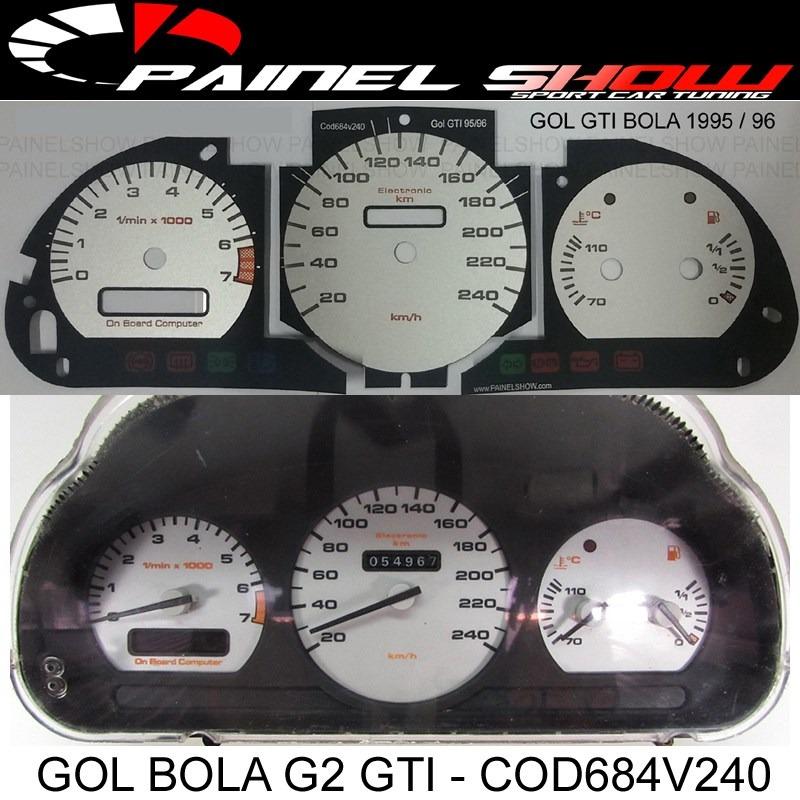 Acetato p/ Painel - Cod684v240 - Gol Bola GTI 95 96  - PAINEL SHOW TUNING - Personalização de Painéis de Carros e Motos