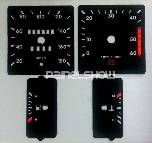 Kit Translúcido p/ Painel - Cod685v180 - Opala 1985 a 1987  - PAINEL SHOW TUNING - Personalização de Painéis de Carros e Motos